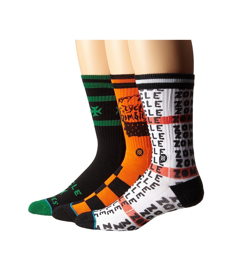 Stance - Cycle Zombies (White) Men's Crew Cut Socks Shoes