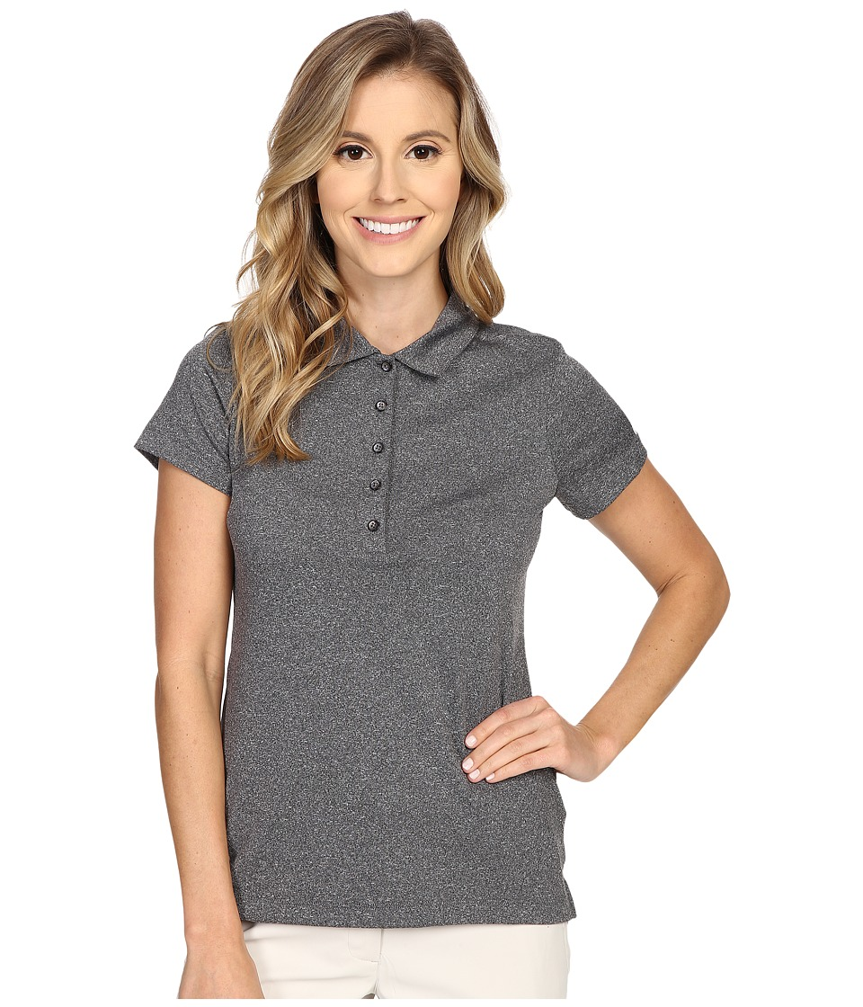Nike Golf - Precision Jacquard Polo (Black/Metallic Silver) Women's Short Sleeve Pullover