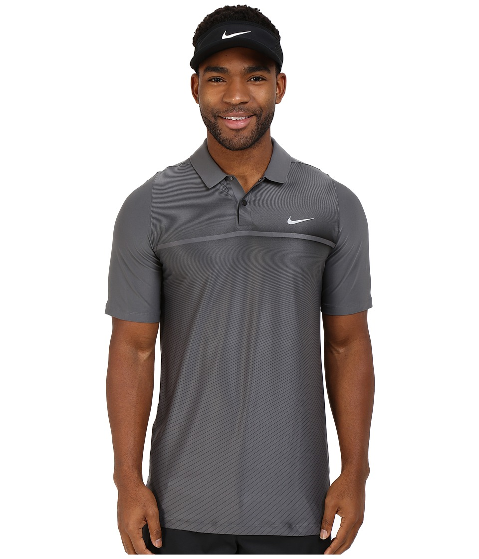 Nike Golf - Tiger Woods Velocity Hypercool Print Polo (Black/White/Black/Reflective Silver) Men's Short Sleeve Pullover