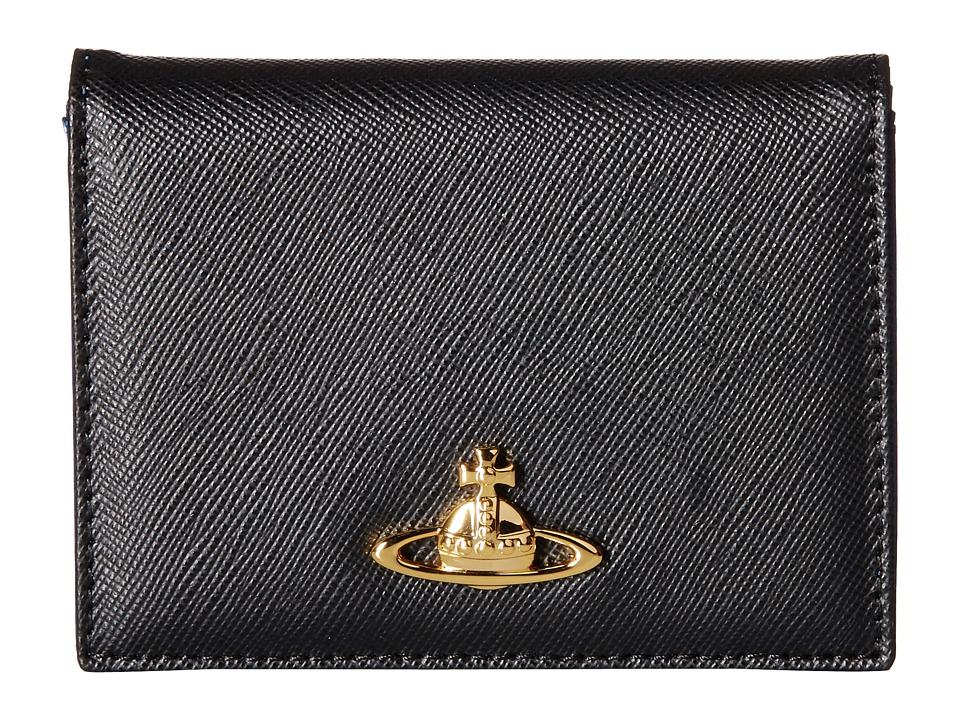 Vivienne Westwood - Saffiano Card Holder (Black) Coin Purse