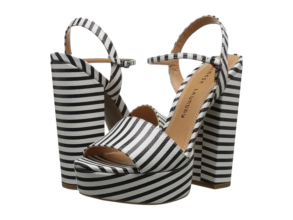 Chinese Laundry - Abie (Black/White Stripe) High Heels
