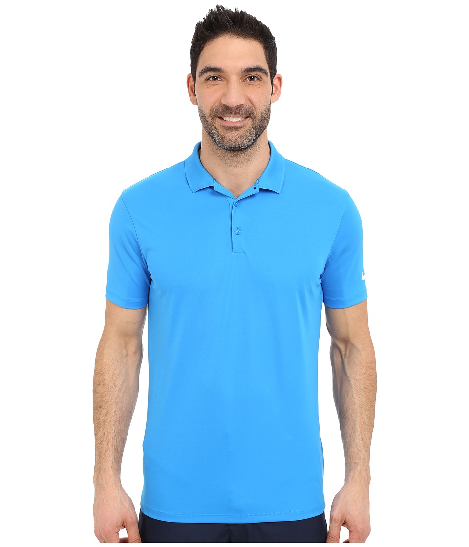 Nike Golf - Victory Solid Polo (Photo Blue/White) Men's Short Sleeve Pullover