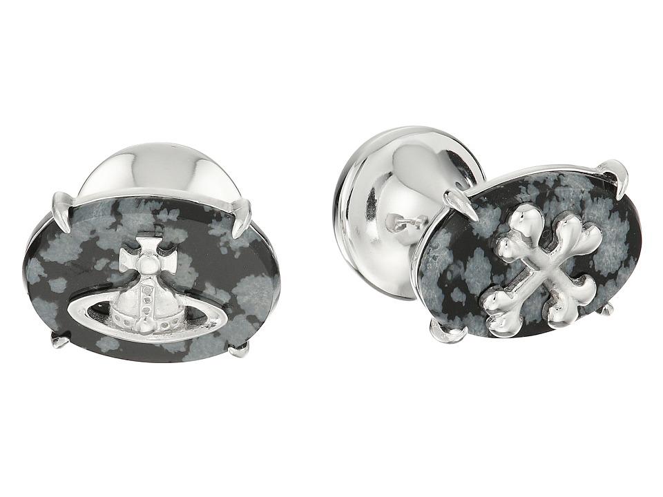 Vivienne Westwood - Caetano Cufflinks (Snowflake Obsidian) Cuff Links