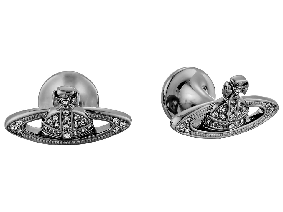 Vivienne Westwood - Mini Bas Relief Cufflinks (Black/Black Diamond) Cuff Links
