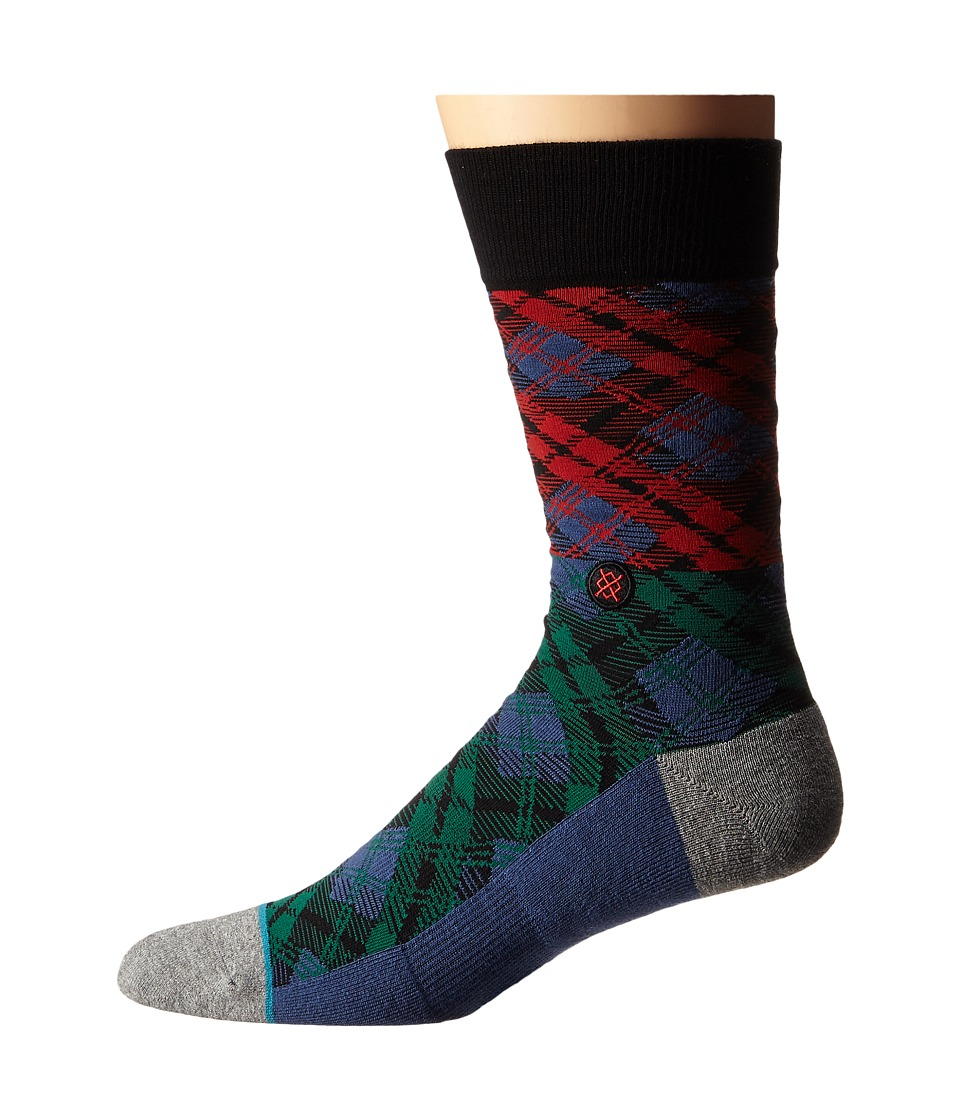 Stance - Placid (Blue) Men's Crew Cut Socks Shoes