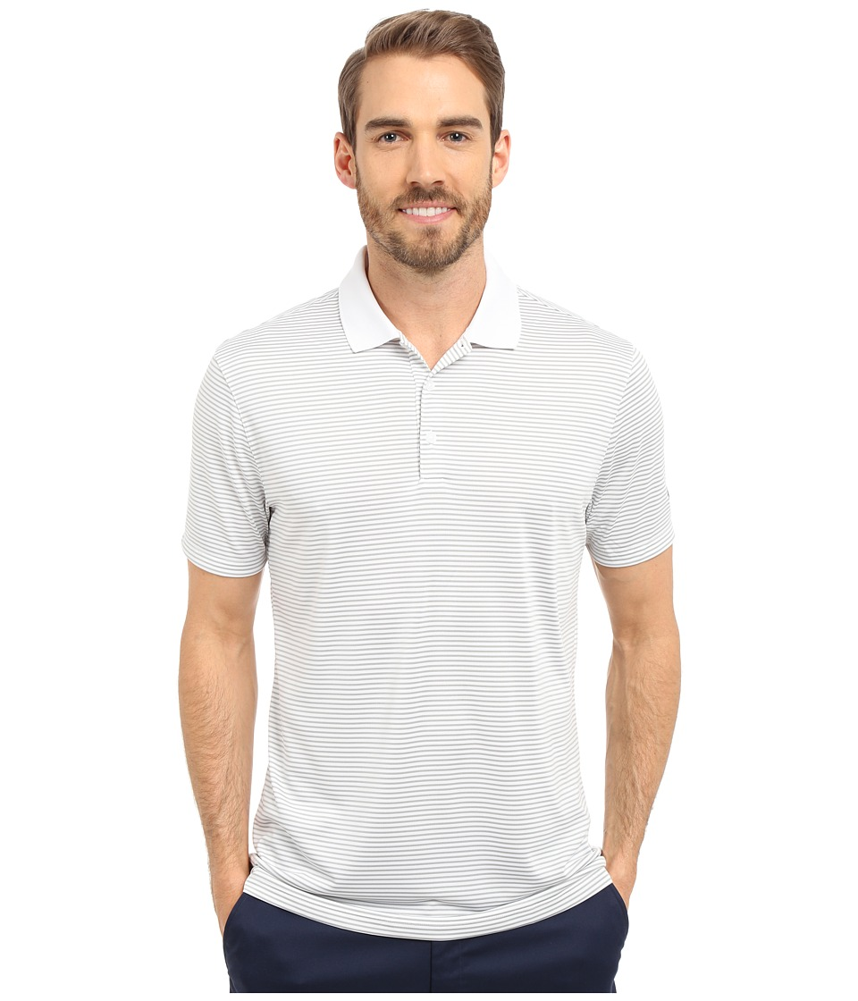 Nike Golf - Victory Mini Stripe Polo (White/Wolf Grey/Black) Men's Short Sleeve Pullover
