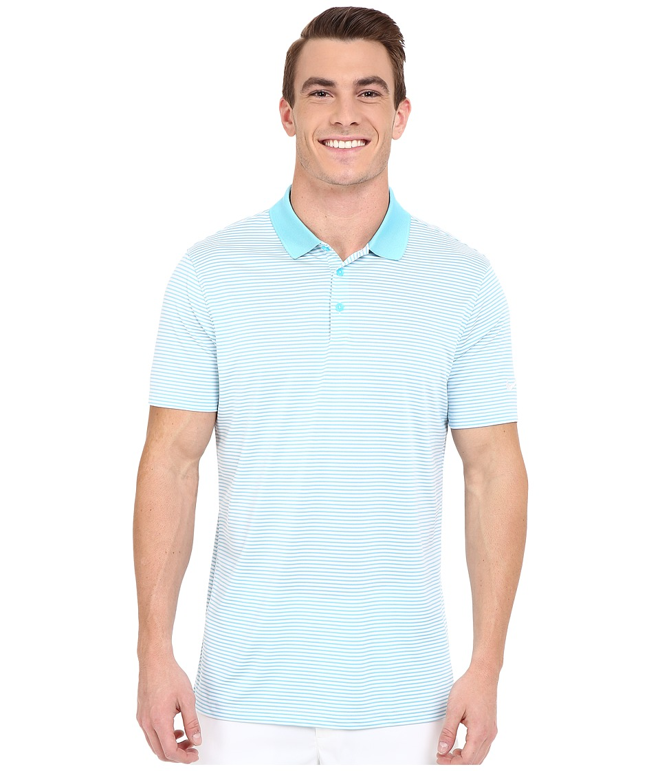 Nike Golf - Victory Mini Stripe Polo (Omega Blue/White/White) Men's Short Sleeve Pullover