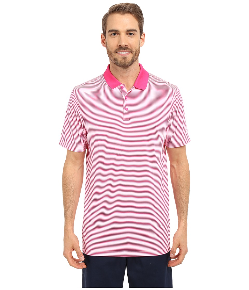 Nike Golf - Victory Mini Stripe Polo (Vivid Pink/White/White) Men's Short Sleeve Pullover