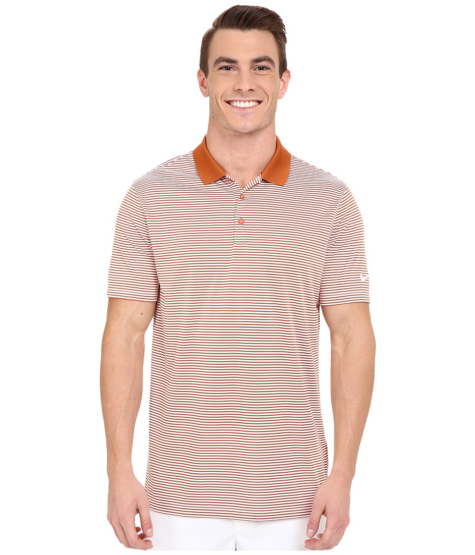 Nike Golf - Victory Mini Stripe Polo (Desert Orange/White/White) Men's Short Sleeve Pullover