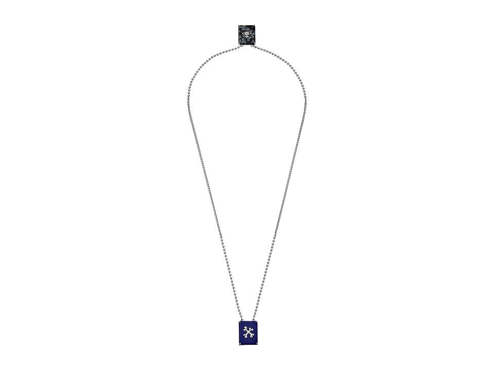 Vivienne Westwood - Caetano Double Pendant Necklace (Lapis/Snowflake Obsidian) Necklace