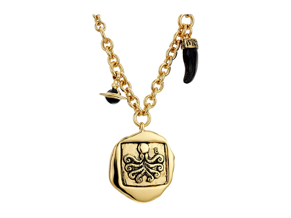 Vivienne Westwood - Venicius Coin Pendant Necklace (Antique Gold) Necklace