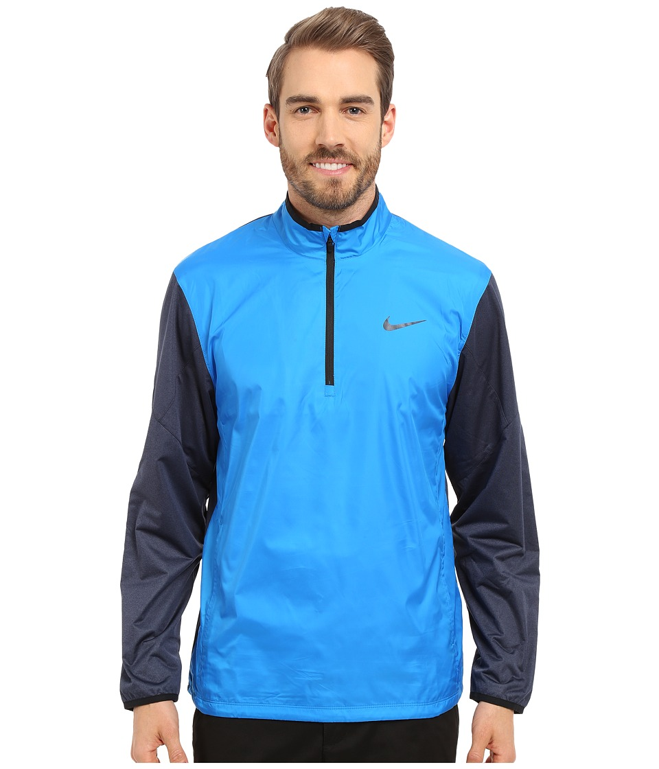 Nike Golf - 1/2 Zip Shield Top (Photo Blue/Obsidian Heather/Black/Reflect Black) Men's Coat
