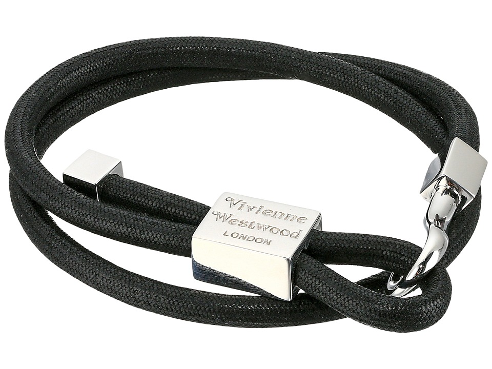 Vivienne Westwood - Caetano Cord Bracelet (Black) Bracelet