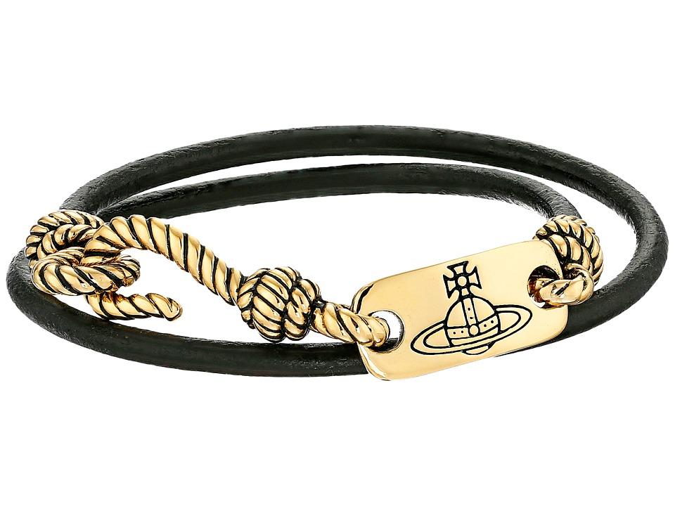 Vivienne Westwood - Venicius Cord Bracelet (Black) Bracelet