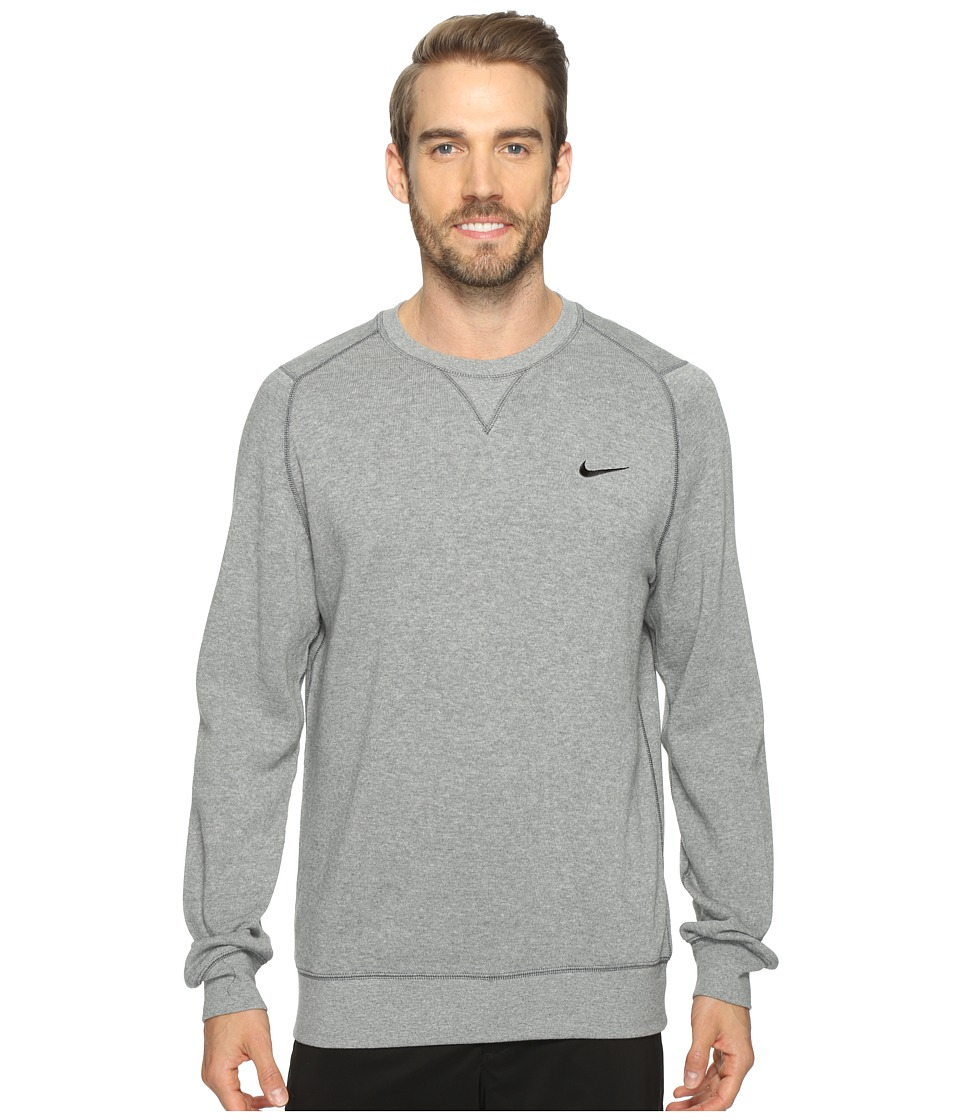 Nike Golf Range Sweater Crew (Carbon Heather/Metallic Silver) Men