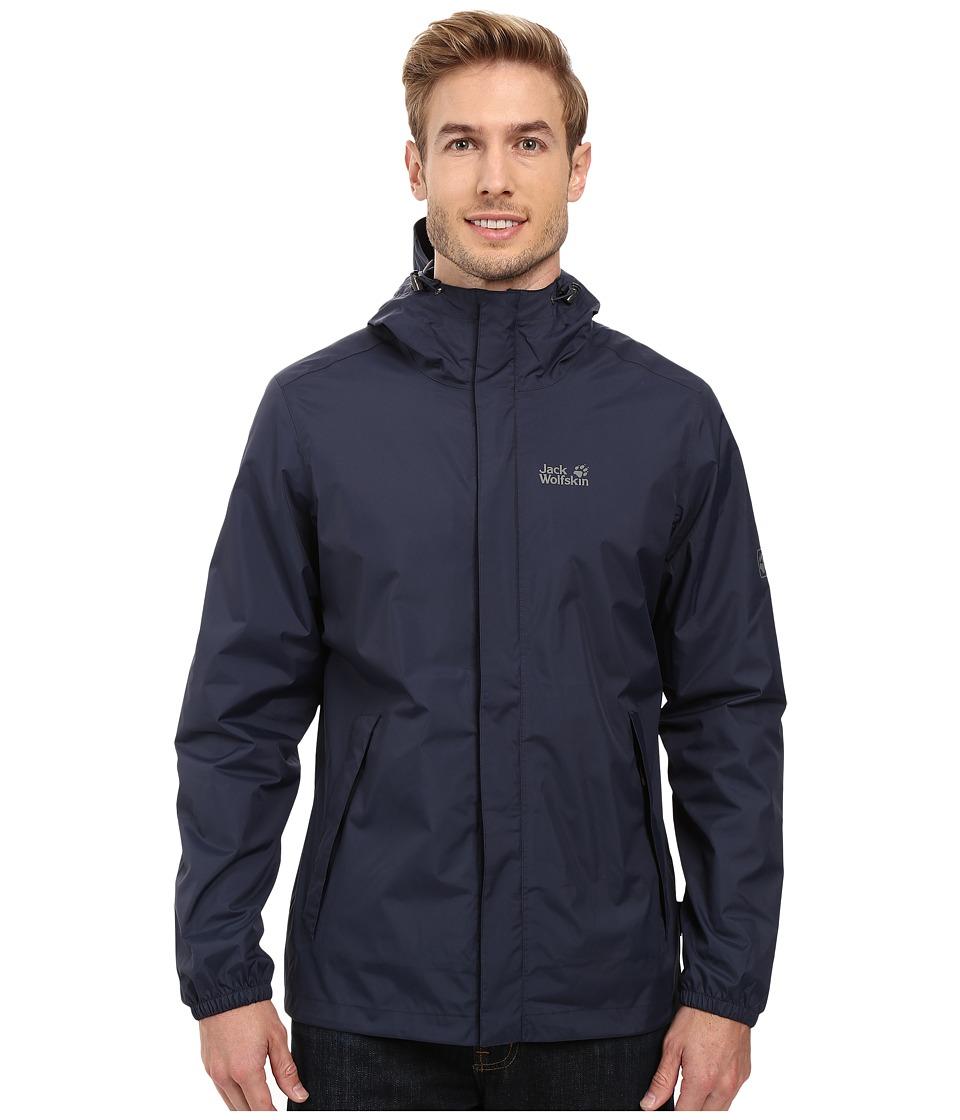 Jack Wolfskin - Cloudburst Jacket (Night Blue) Men's Coat
