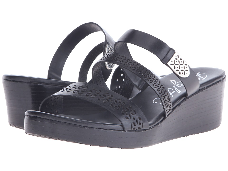 Brighton - Happy (Black Vegetal) Women's Wedge Shoes