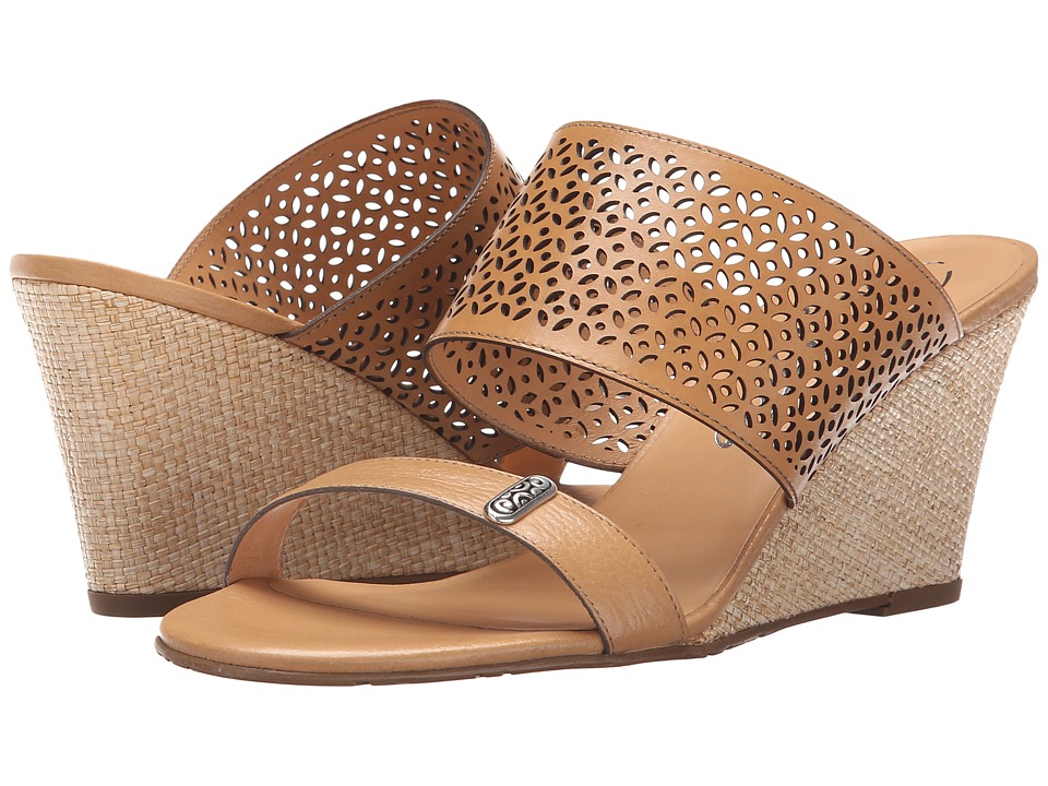 Brighton - Ramone (Natural Granola/Lasered Vegetal) Women's Wedge Shoes