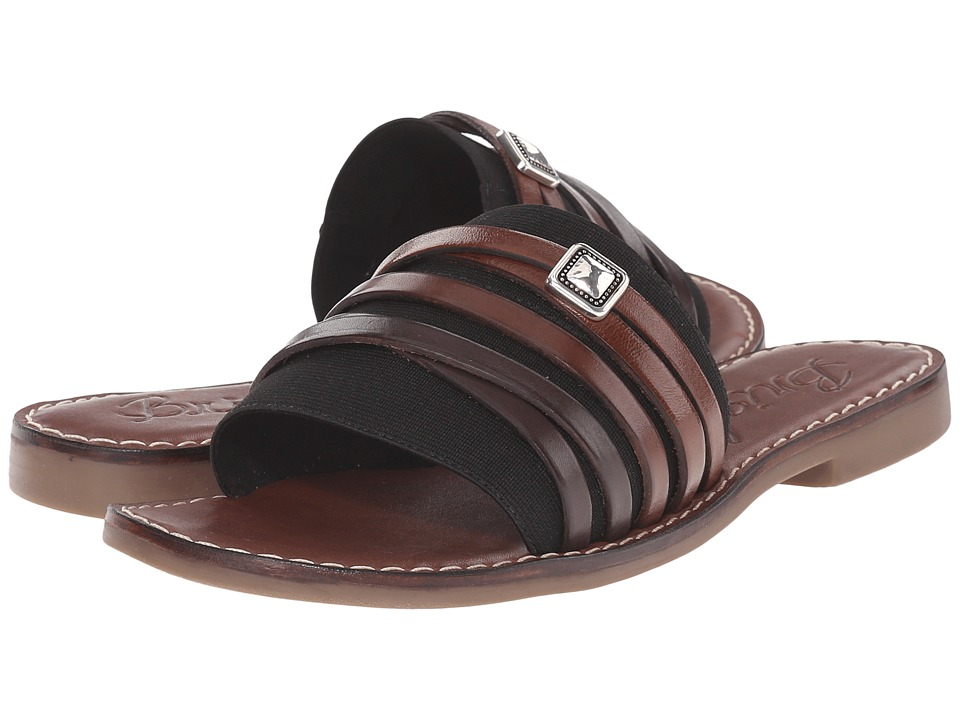 Brighton - Allman (Black Elastic w/Natural Multi Straps) Women's Sandals