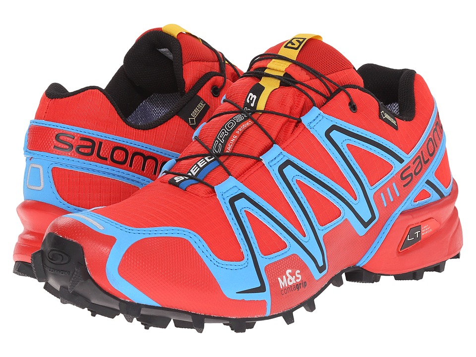 Salomon - Speedcross 3 GTX (Radiant Red/Process Blue/Black) Men's Shoes