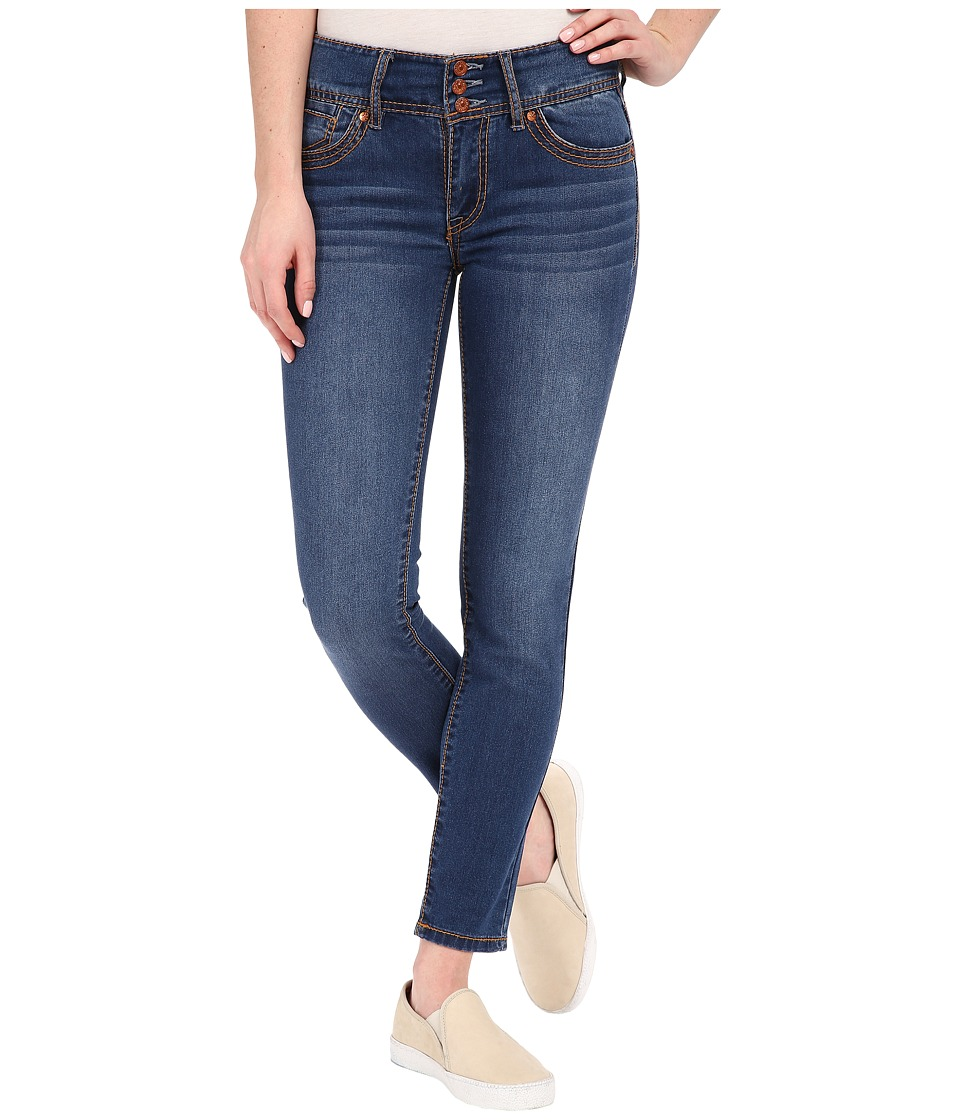 UNIONBAY - Therese Triple Button High Rise Denim Jeans in Port Blue (Port Blue) Women's Jeans