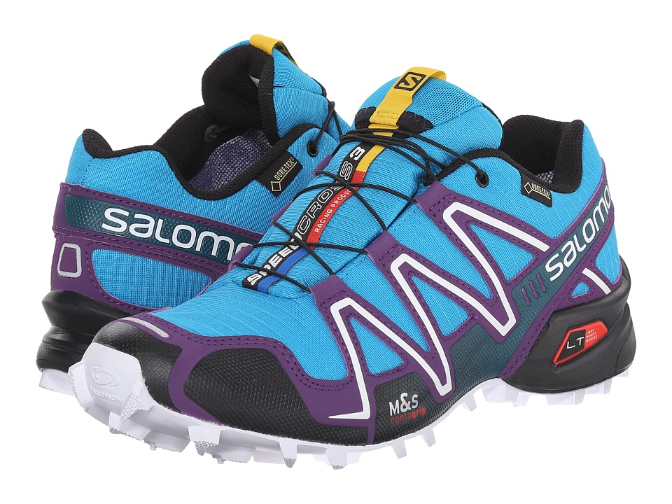 Salomon - Speedcross 3 GTX (Scuba Blue/Cosmic Purple/Black) Women's Shoes
