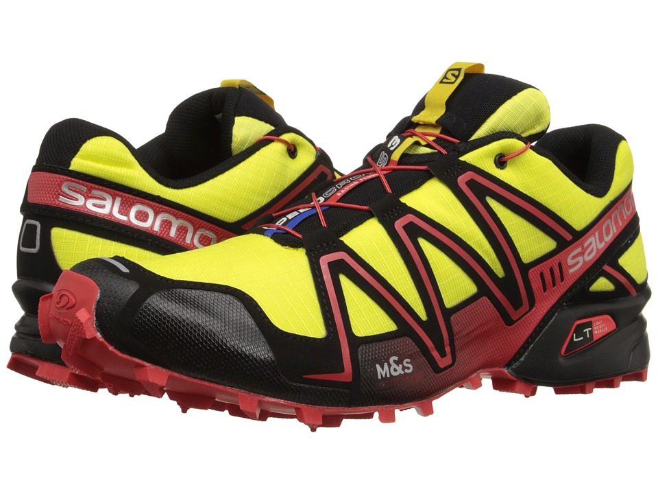 Salomon - Speedcross 3 (Corona Yellow/Black/Radiant Red) Men's Running Shoes