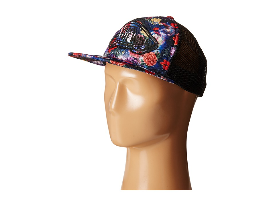 Vans - Beach Girl Trucker Hat (Galaxy Floral) Caps