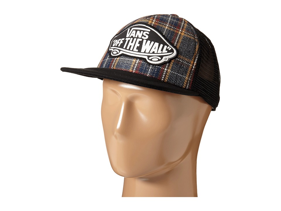 Vans - Beach Girl Trucker Hat (Black Plaid) Caps