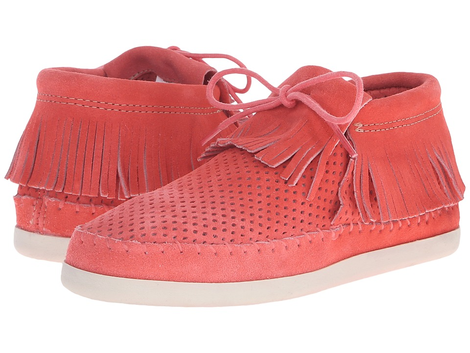 Minnetonka Venice Perf (Melon Perforated Suede) Women