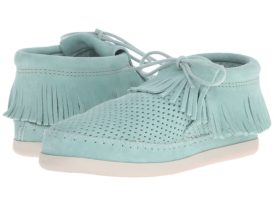 Minnetonka Venice Perf (Mint Perforated Suede) Women