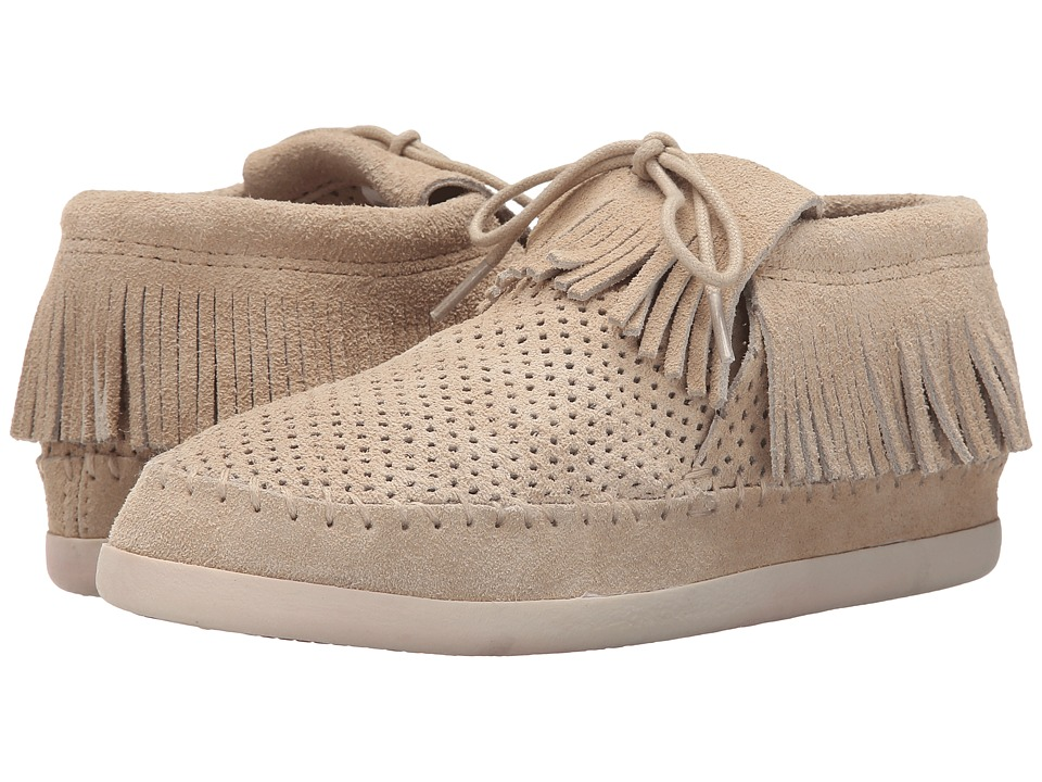 Minnetonka Venice Perf (Stone Perforated Suede) Women