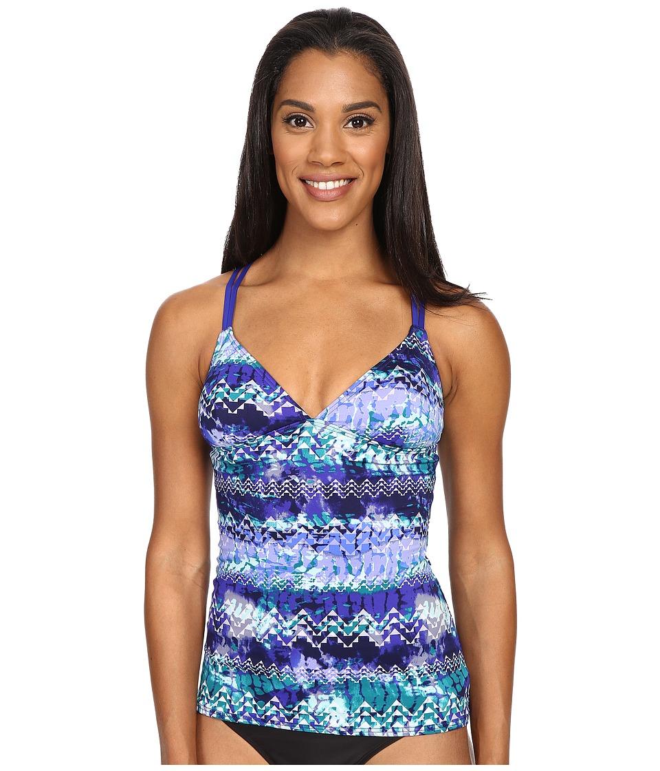 TYR - Emerald Lake Cascade Cross Tankini (Velvet/Turquoise) Women's Swimwear
