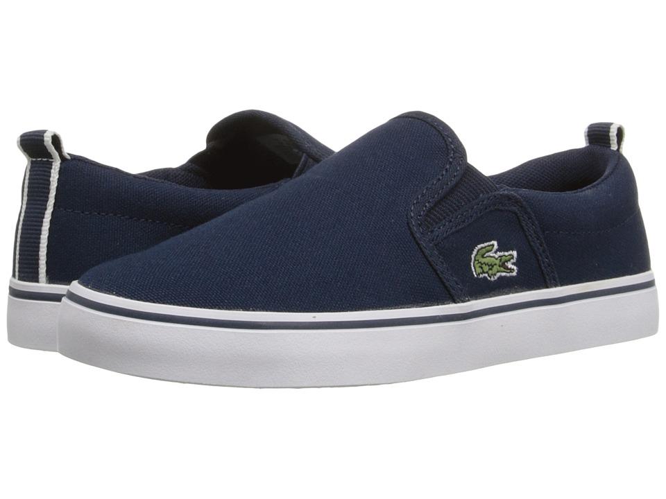 Lacoste Kids - Gazon 116 1 SP16 (Little Kid) (Navy) Kid's Shoes