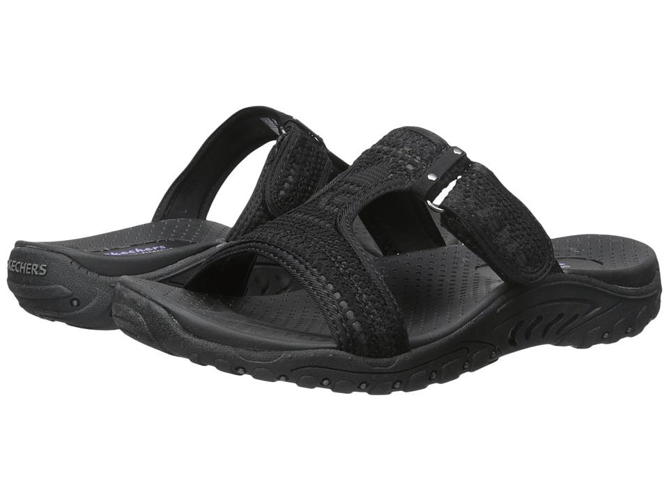 SKECHERS - Reggae - T (Black) Women's Sandals