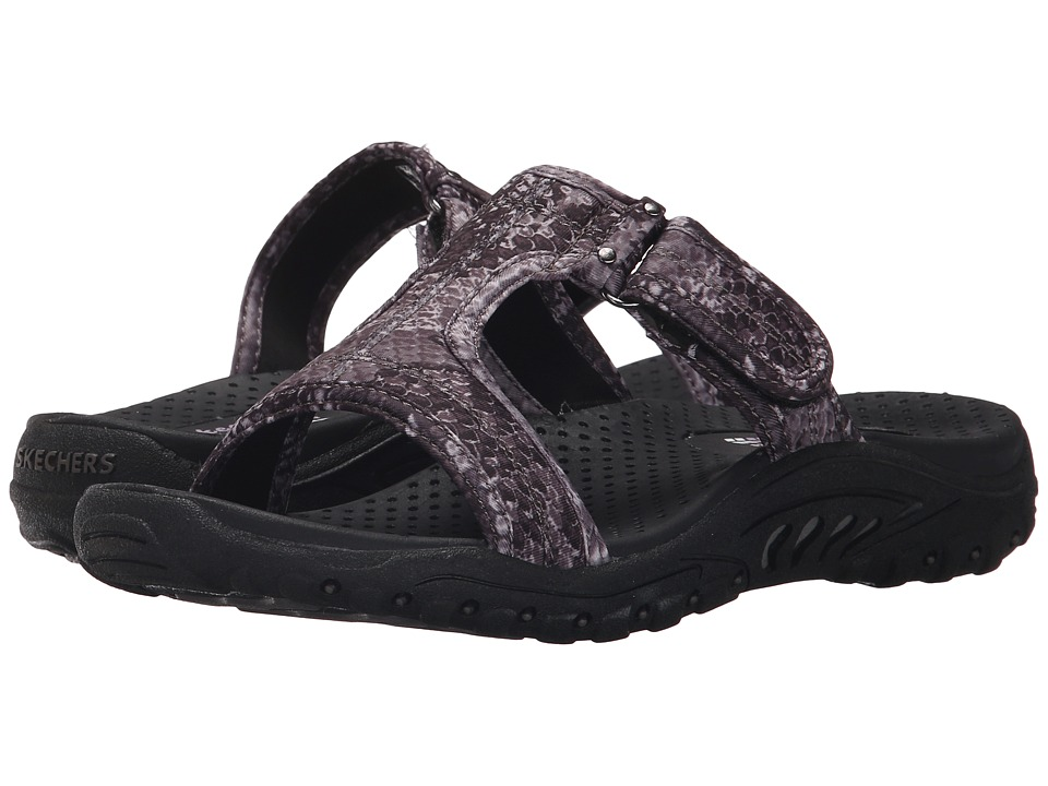 SKECHERS - Reggae - Python (Black) Women's Sandals