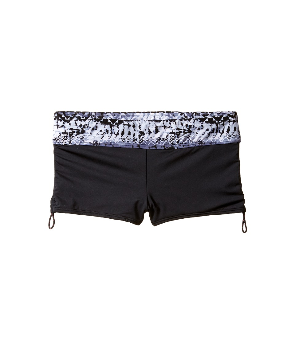 TYR - Emerald Lake Active Mini Boyshorts (Black/Grey) Women's Swimwear