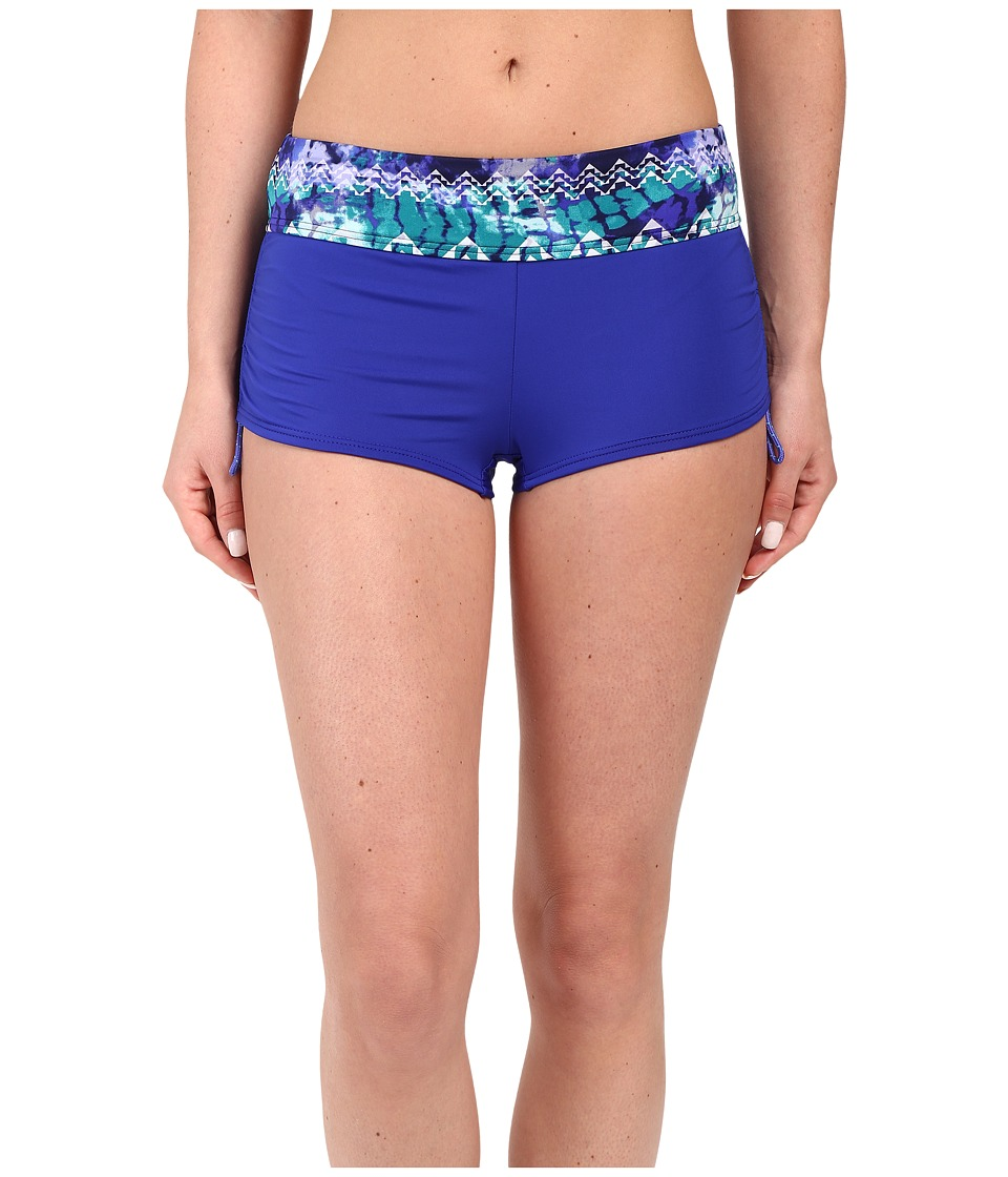 TYR - Emerald Lake Active Mini Boyshorts (Velvet/Turquoise) Women's Swimwear