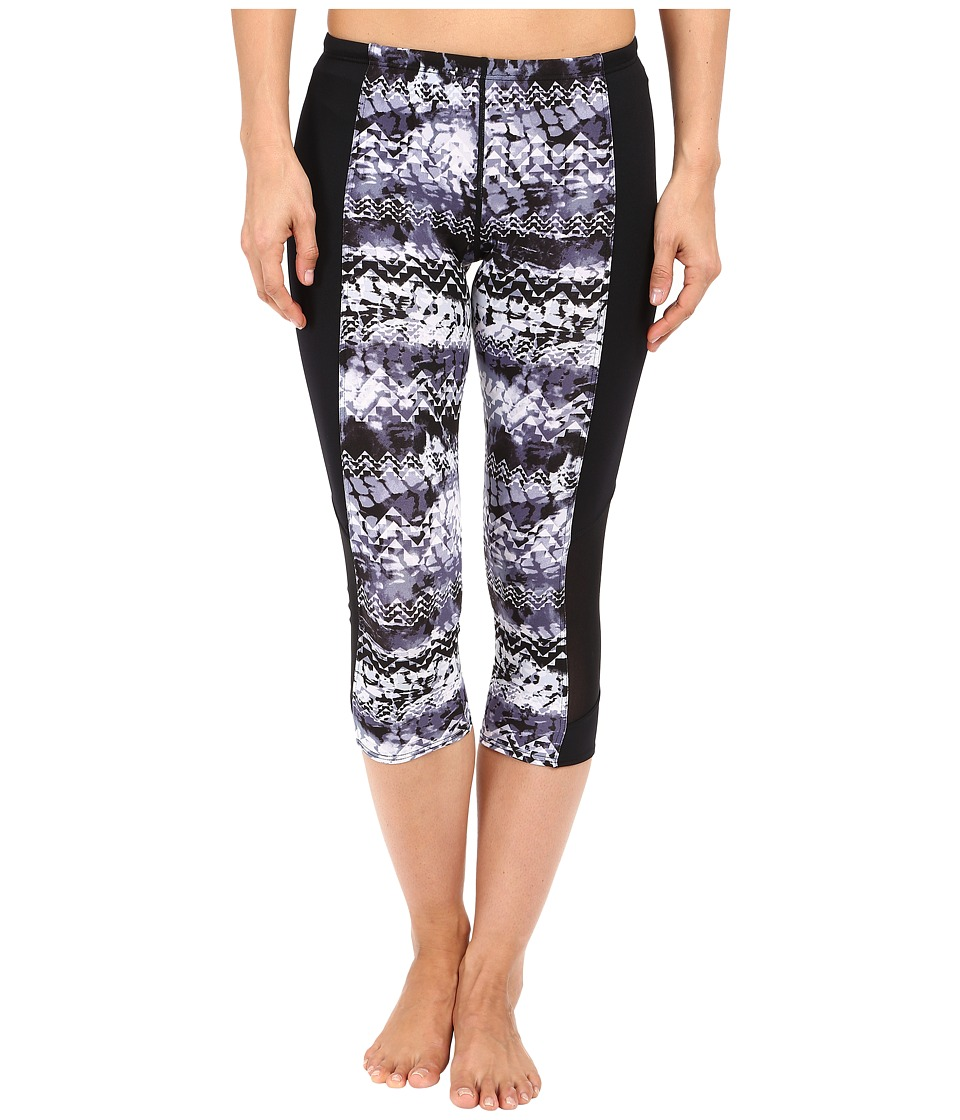 TYR Emerald Lake Flex Splice Capris (Black/Grey) Women