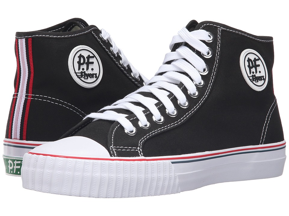 PF Flyers - Core Hi (Black Canvas 1) Men's Shoes