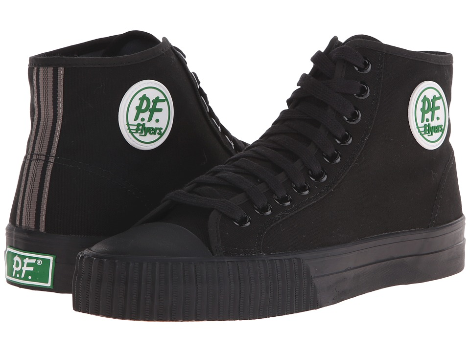 PF Flyers - Core Hi (Black Canvas) Men's Shoes