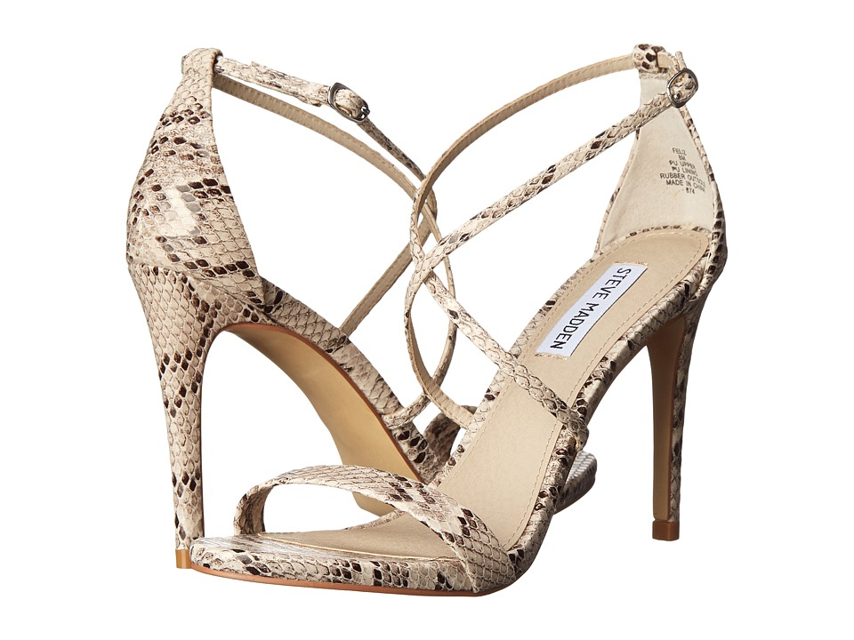 Steve Madden - Feliz (Natural Snake) High Heels