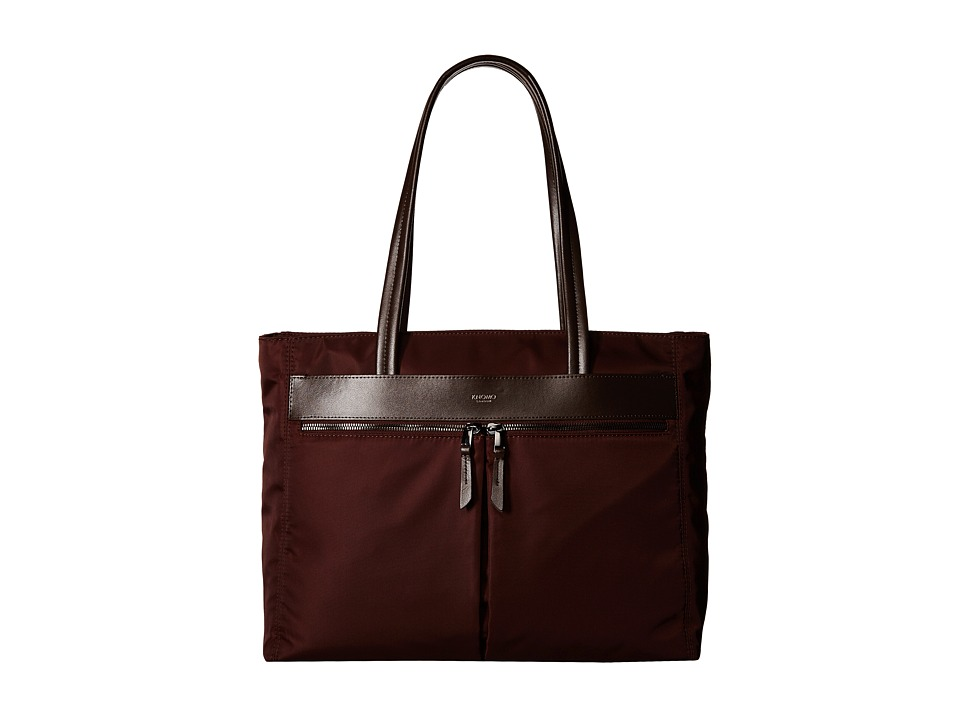 KNOMO London - Grosvenor East/West Top Zip Laptop Tote (Chestnut) Tote Handbags