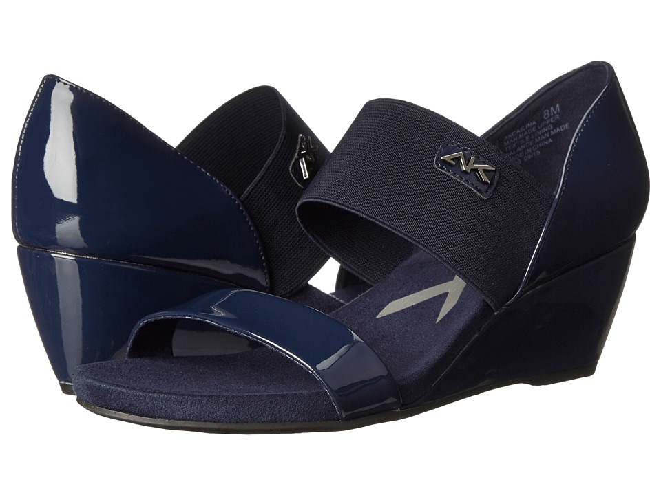 Anne Klein Cailina (Navy/Navy Synthetic) Women