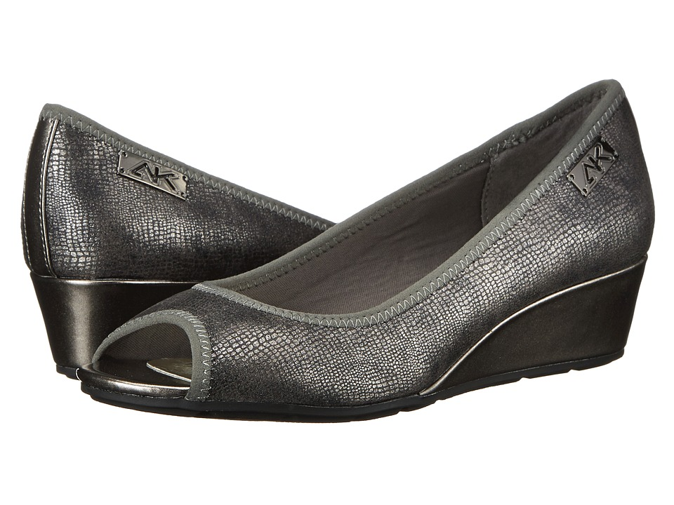 Anne Klein - AK Sport - Camrynne (Pewter Multi Fabric) Women's Wedge Shoes