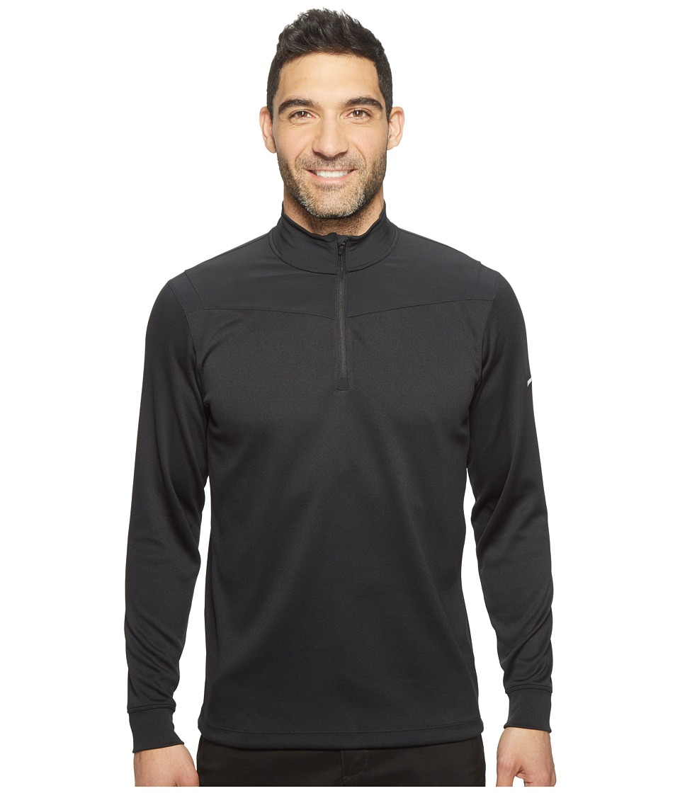 Nike - Dri-Fit 1/2 Zip Long Sleeve Top (Black/Black/White) Men's Long Sleeve Pullover