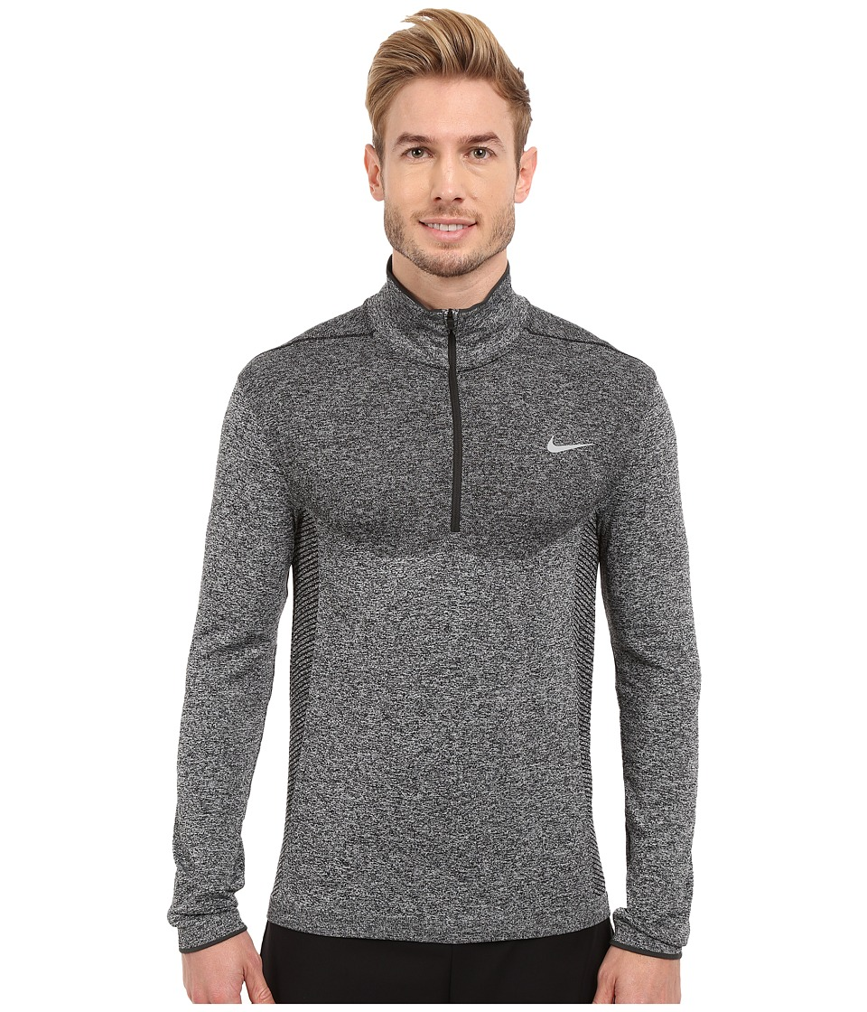Nike Golf - Flex Knit 1/2 Zip Top (Black/Anthracite/Reflective Silver) Men's Long Sleeve Pullover