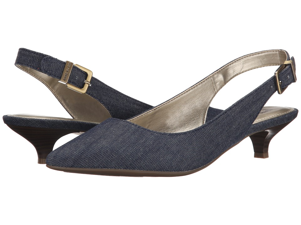 Anne Klein - Expert (Medium Blue Fabric) Women's 1-2 inch heel Shoes