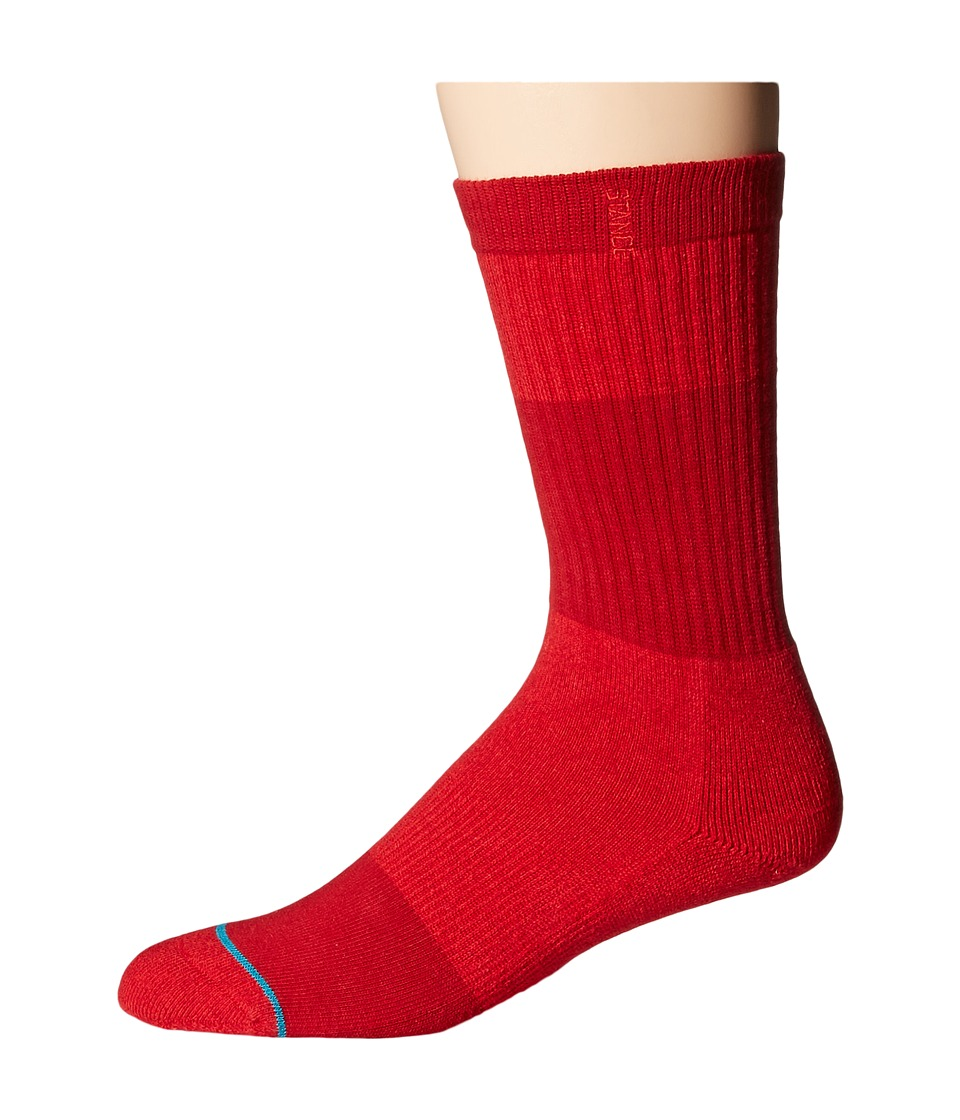 Stance - Spectrum (Red) Men's Crew Cut Socks Shoes