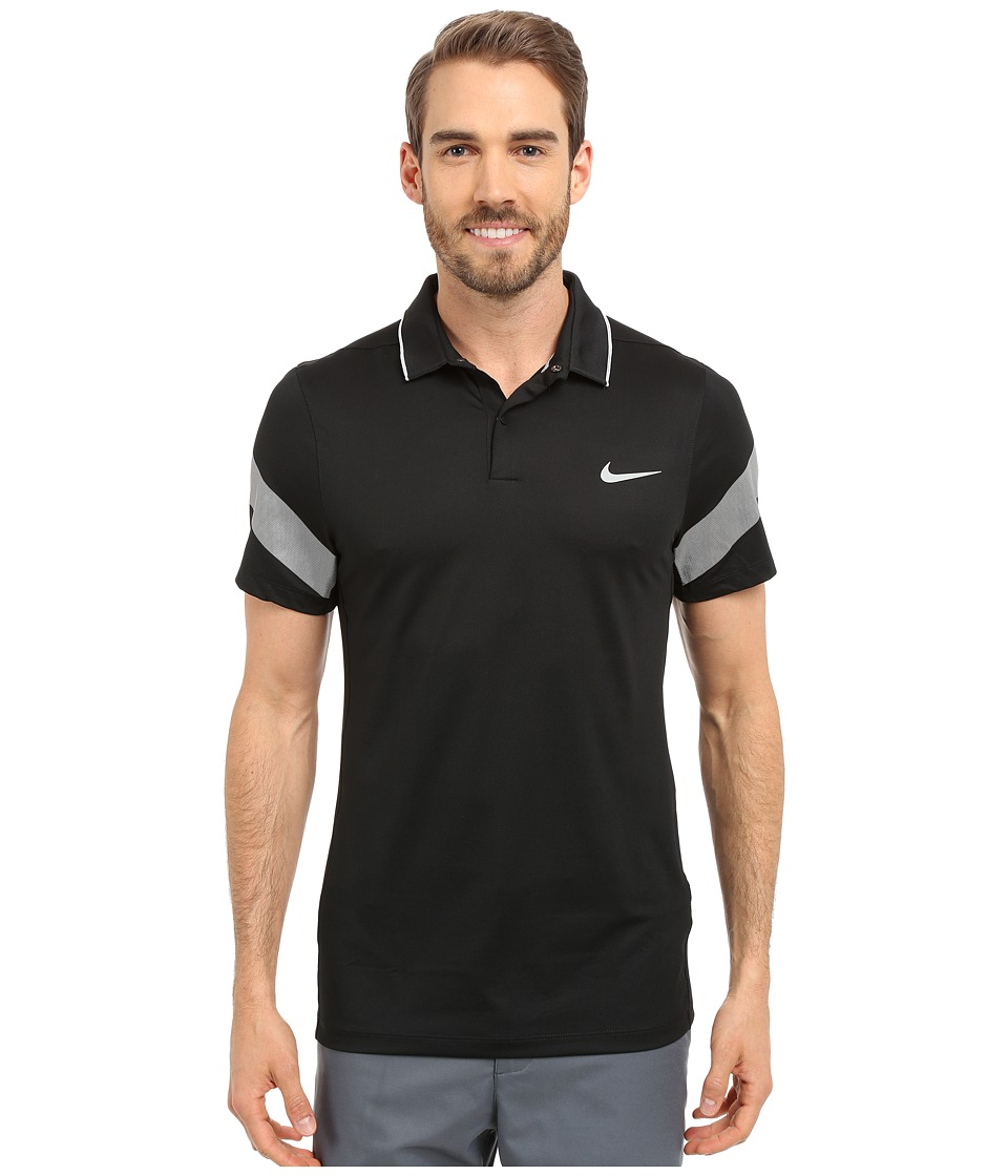 Nike Golf - Momentum Framing Commander (Black/Wolf Grey/Reflective Silver) Men's Short Sleeve Pullover